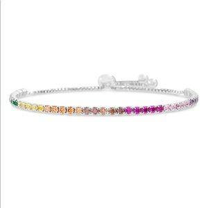 Lesa Michelle Rainbow & Sterling Silver Bracelet